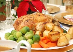 美味しいクリスマスのローストチキン