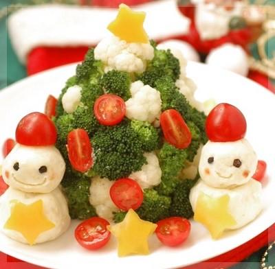 雪だるまサラダのレシピ