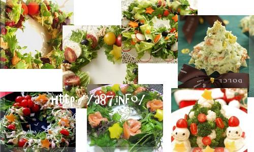 クリスマスのサラダ【レシピ集】リース?ツリー?雪だるま?