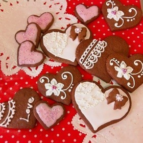 バレンタイン用のアイシングクッキーのレシピ