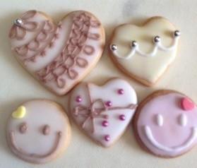 バレンタイン用アイシングクッキー・つくれぽレシピ