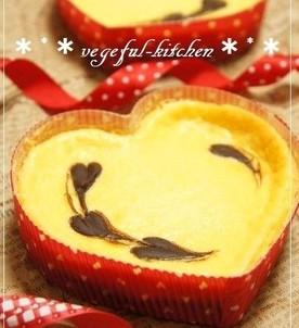 バレンタインのチョコチーズケーキ
