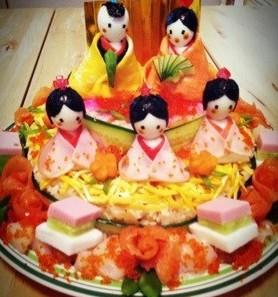 ちらし寿司デコ・ひな飾り