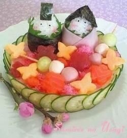 散らし寿司デコ・お雛様レシピ
