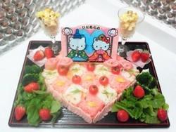 ちらし寿司デコ・キティちゃん