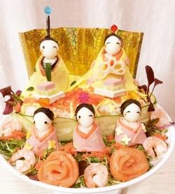 ちらし寿司デコ・ヒナ飾り