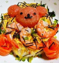 ちらし寿司デコ・クマ