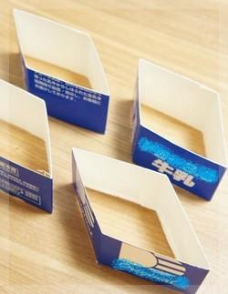 牛乳パックで菱形の散らし寿司3