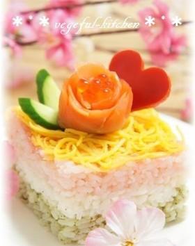 ひな祭り・ひし形ちらし寿司レシピ