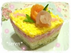 ひし形ちらし寿司レシピ1