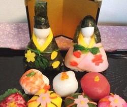 お花見の手まり寿司3