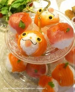 妖怪ウォッチのジバニャン手まり寿司レシピ
