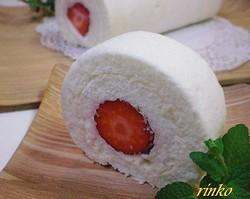 ホワイトデー・手作りロールケーキ