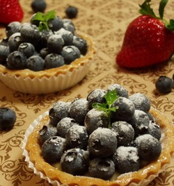 ブルーベリーのミニタルト・レシピ