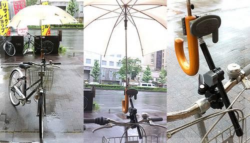 法改正。自転車の傘・固定スタンド【さすべえ】関西から関東へ